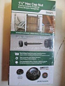 OZCO 56621 1-1/2-inch Hex Cap Nut, (10 per Pack), Black (H1)