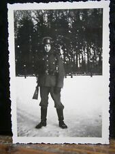 Photo argentique guerre 39 45 soldat Allemand wehrmacht WWII 2 sentinelle armée