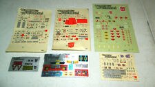 6 VINTAGE 1980'S 80'S ORIGINAL G1 TRANSFORMERS DECAL SHEETS LOT SOME UNUSED