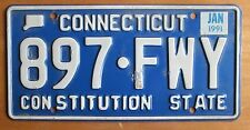 Connecticut 1991 License Plate # 897-FWY