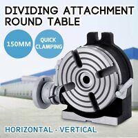 Plateau Tournant Diviseur 150mm 360 ° Vertex Fermée Horizontal / Vertical