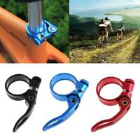 31.8/34.9mm Aluminum MTB Bicycle Quick Release Seat Tube Clamp Seatpost
