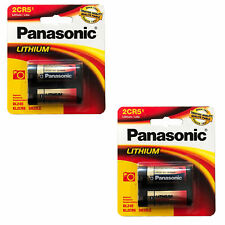 2x Panasonic 6V 2CR5 Photo Lithium Battery Replaces 032LC, 6203, 645, AFL-240