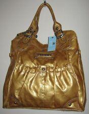 New Kathy Van Zeeland Metallic-Like Yellow/Gold Hobo Shoulder handbags Sz L