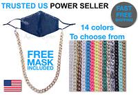 Face Mask Lanyard Hanging Strap Holder Necklace Fashion Chain FREE MASK