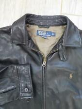 POLO Ralph Lauren LEATHER Jacket MEDIUM Dark Chocolate Brown