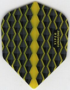 YELLOW WAVES VIPER Dart Flights: 3 per set