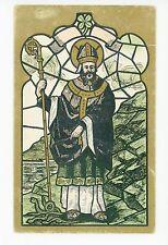 St. Patrick in Stained Glass—Antique Irish-American UDB Catholic ca. 1908