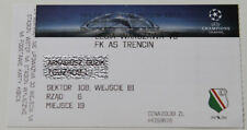 Ticket for collectors CL Legia Warszawa AS Trencin 2016 Poland Slovakia