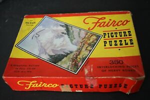 """Vintage All-Fair Fairco Picture Puzzle """"Lofty Heights"""" 350 piecesComplete"""