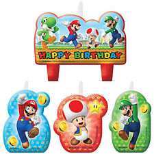 Super Mario Brothers Boy Birthday Candles Set Party Decorations Cake Topper, Wii