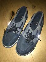 Tu Sainsbury's Boys navy deck shoes shoes size 1 vgc