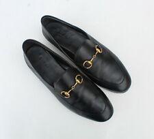 GUCCI 'Brixton' Black Leather Horsebit Convertible Women's Loafers Sz 37/ 7