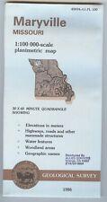 USGS Planimetric Map MARYVILLE - Missouri - 1986 - 100K -