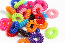 10 Spiral Slinky Hair Head Bands Elastics Bobbles Ties Scrunchies Accessory rope