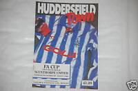 Huddersfield V Scunthorpe Programa 25th Nov.1992