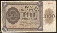 1000 pesetas 1936 emision de Burgos @@ Muy Bello @@