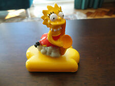 Lisa Simpson with sax on cloud. Wheelies.The Simpsons Burger King Toy 1992. RARE