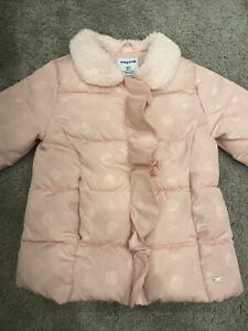 Girls Mayoral Coat Age 3 Pink
