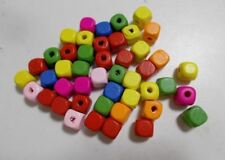 300pcs 10mm Wooden CUBE Squared Beads - PASTEL ASSORTED MIXED A21