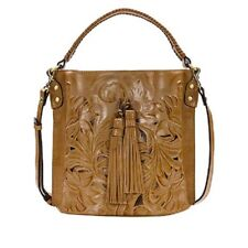 Patricia Nash Torresina Tooled Leather Bucket Bag Biscuit Nwt