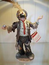 Emmett Kelly Jr Figurine Flambro Imports The Balancing Act w/ box & cert of auth