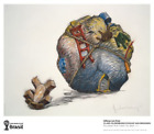 World Cup Print art Oldenburg Coosje van Bruggen Houseball with Fallen Toy Bear