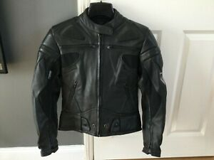 Ladies Leather Motorcycle Jacket, size 8-10, Frank Thomas, EXCELLENT CONDITION