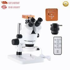 Stereo Microscope w/ Camera 21MP 2K HDMI Zoom 7X-45X w/ 56 LED Light PCB Repair