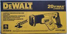 DEWALT DCS387B 20V 20 Volt Max Cordless Compact Reciprocating Saw Tool Only NIP