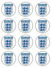 """12 x 2"""" Three Lions Edible Icing, Cup Cake Toppers"""