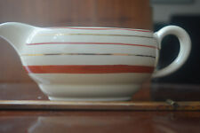 Clarice Cliff gravy or sauce boat cream + red & gold circles Newport