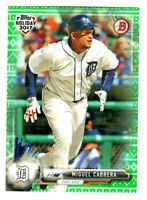 2017 Topps Bowman Holiday GREEN SWEATER #TH-MCA MIGUEL CABRERA 14/99 Tigers