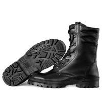 Men's Combat Boots Tactical Russian Leather Garsing Winter Cold Weather Black