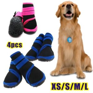 4pcs Dog Puppy Shoes Pet Booties with Adjustable Magic Strap Slip Resistant