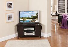Kings Brand Espresso Finish Wood Corner TV Stand Entertainment Center  ~New~