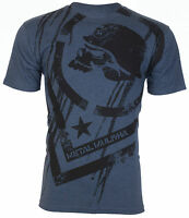 METAL MULISHA Mens T-Shirt DISSOLVE Motocross Racing NAVY Biker UFC Fox $30