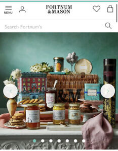Fortum And Mason Hamper Wicker Basket With All 9 Contents New Sealed Complete
