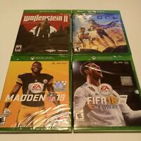 Lot Of Xbox One Games 4 Total - Madden 19, Wolfenstein 2, Record, FIFA 18