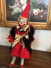 """Clown doll porcelain """"Tillie in Red"""", #5 of 25, Wicket Originals, the ONLY run"""