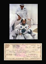 DONN EISELE Signed Check Autographed Document NASA Apollo 7