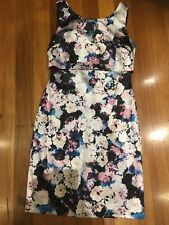 Review Floral Dress Size 10 Blue White Very Good Condition P5OFF 5%