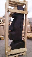 Moai Kopf Steinfigur 80 cm Höhe Osterinseln Lavastein Skulptur Steinfigur Garten