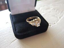 DIAMOND WEDDING SET RING 1 CARAT BAGUETTE 14K YELLOW GOLD SIZE 6-1/2