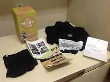 The Original Moby Bamboo Wrap Baby Carrier Black w/ Original Packaging