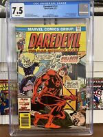 Daredevil 131 7.5 CGC White Pages perfect centering! Bullseye 1st Appearance!!