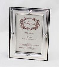Cornice Foto 6 x 9 cm Argento 925 e Legno Made in Italy Da Appoggio