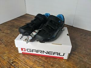 Women's Louis Garneau Jade Cycling Shoes, Blue/Black, Size 10, New, original box