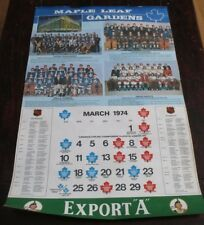 "Export ""A""  Maple Leaf Gardens Calendar Page Teams 1972 - 1973"