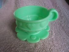Fisher Price 77865 Musical Tea Set Replcmnt 2000 No Holes Cup Green Heart Saucer